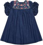 Velveteen Ginny Denim Embroidered Dress, Size 8-12