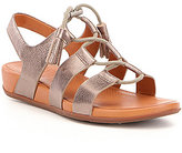 FitFlop Gladdie Metallic Leather Lace Up Tassel Banded Sandals