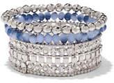 New York & Co. Sparkling Multi-Row Beaded Bracelet