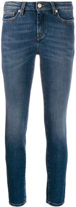 Versace Mid Rise Studded Skinny Jeans