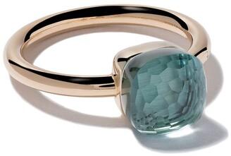 Pomellato 18kt rose gold small Nudo light blue topaz ring