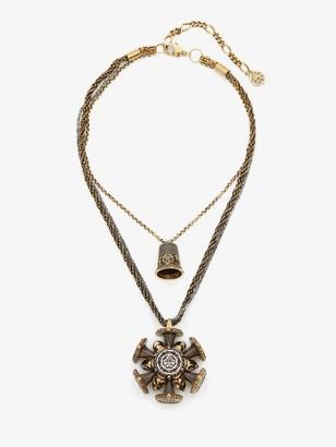Alexander McQueen Rose Charm Seal Necklace