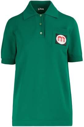 Miu Miu Patch polo shirt