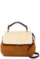 UGG Heritage Suede & Genuine Lamb Fur Satchel
