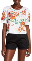 Natori Poplin Embroidered Blouse