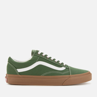 Vans Men's Old Skool Gum Sole Trainers - Green Pastures/True White