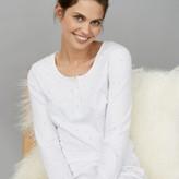 The White Company Short Spot Print Pyjama Set, White Blue, Extra Small