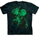 The Mountain Men's Glow Wolf Moon Shirt
