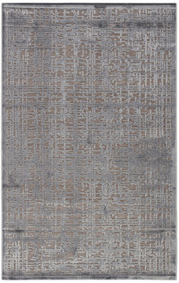 """Jaipur Living Dreamy Abstract Gray/Silver Area Rug, 5'x7'6"""""""