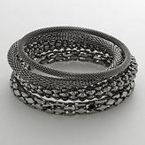 Apt. 9 Jet Mesh Bangle Bracelet Set