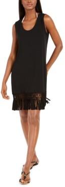 Dotti Island Macrame-Fringe Dress Cover-Up Women's Swimsuit