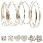 Charlotte Russe Embellished Hoop & Stud Earrings Set