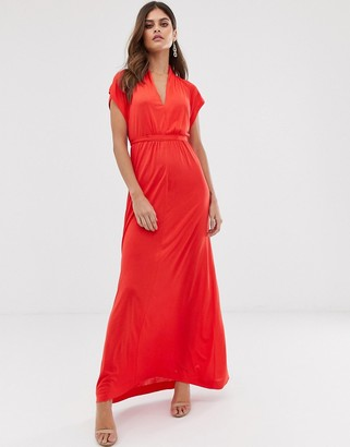 French Connection maxi wrap dress-Red