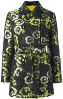 Etro floral print trench coat