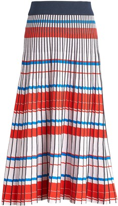 Banana Republic Petite Pleated Knit Midi Skirt