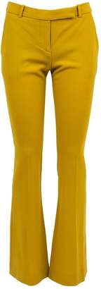 Alexander McQueen Yellow Wool Trousers