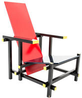 Design Within Reach 635 Red and Blue Lounge Chair