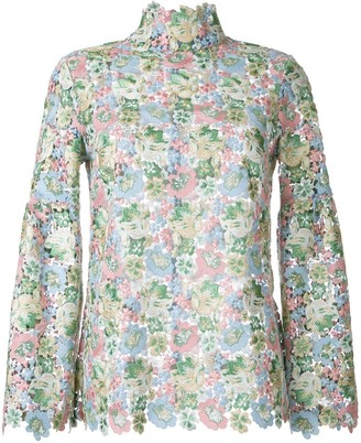 macgraw Bell floral lace blouse