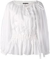 Rochas pleated blouse - women - Cotton/Spandex/Elastane - 40