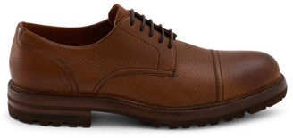 Brunello Cucinelli Deerskin Cap Toe Lace-Up Derby Loafers