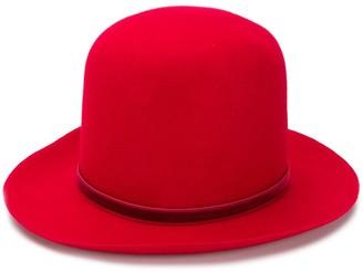 Ann Demeulemeester Velvet Ribbon Top Hat