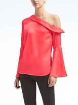 Banana Republic One-Shoulder Flare-Sleeve Top