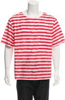 MSGM Striped Round Neck Shirt