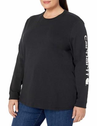Carhartt Women's Size Wk231 Workwear Logo Long Sleeve T Shirt
