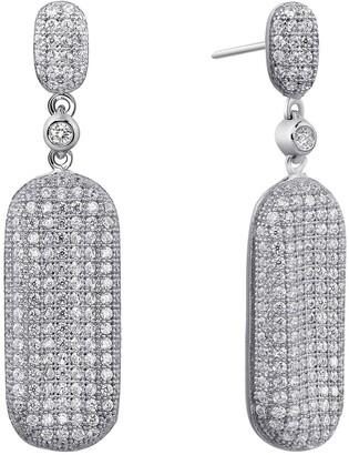 Lafonn Micro Pave Simulated Diamond Emerald-Shaped Drop Earrings