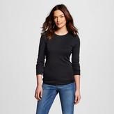 Women's Ultimate Long Sleeve Crew T-Shirt Black L - Merona