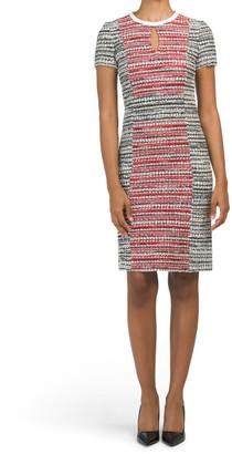 Amelia Tweed Short Sleeve Dress
