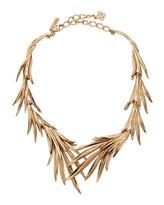 Oscar de la Renta Palm Leaf Statement Necklace