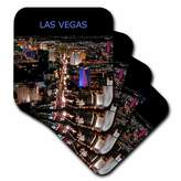 3drose Las Vegas The Strip Ceramic Tile Coaster, Set of 4