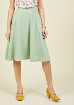 ModCloth Just this Sway Skirt in Sage in 1X