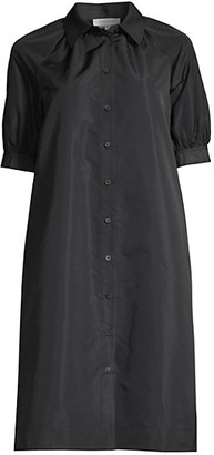 Lafayette 148 New York Brennan Short Puff-Sleeve Shirtdress