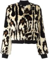 Carven animal print bomber jacket