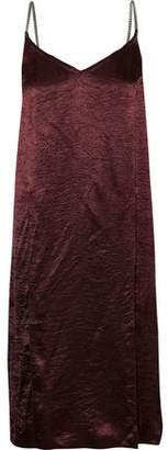 Nina Ricci Layered Crinkled-satin Slip Dress