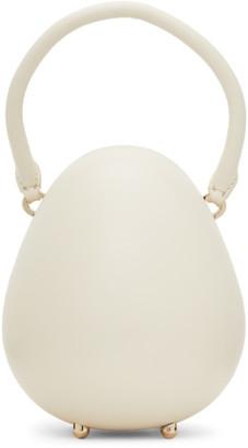 Simone Rocha Off-White Mini Handheld Egg Bag