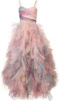 Marchesa frill shift dress