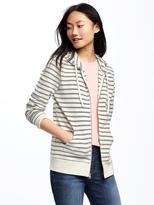Old Navy Relaxed Full-Zip Striped Hoodie for Women