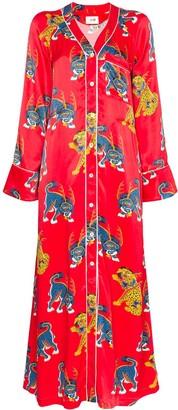 Kirin Haetae print pyjama dress