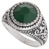 Burton Mens Green Stone Ring