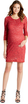 Motherhood Jessica Simpson Lace Body Con Maternity Dress