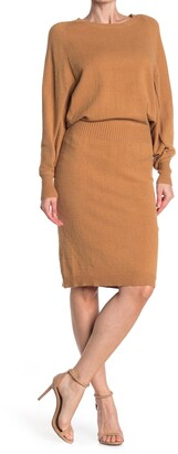 Stitchdrop All in One Blouson Knit Sweater Dress