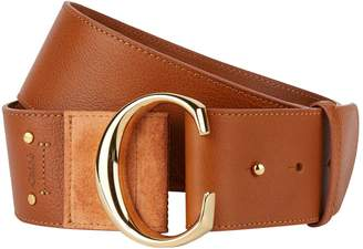 Chloé Leather C Buckle Belt