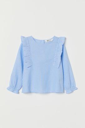 H&M Flounce-trimmed blouse