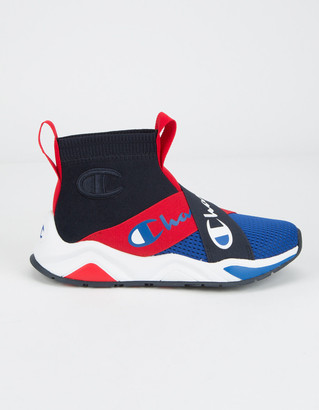 Champion Rally Crossover Navy & Surf The Web Boys Shoes