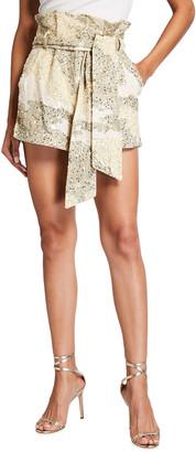retrofete Jo Sequin Paperbag Shorts