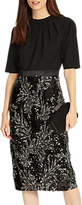 Phase Eight Meg Embellished Dress, Black