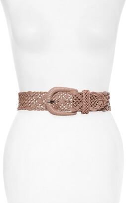 Rachel Parcell Braided Leather Belt